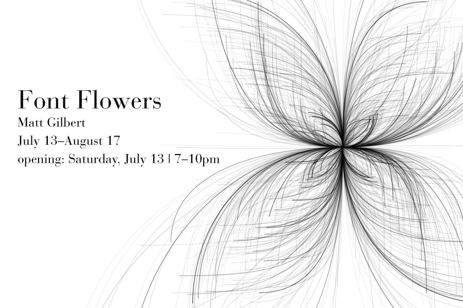 Font Flowers by Matt Gilbert