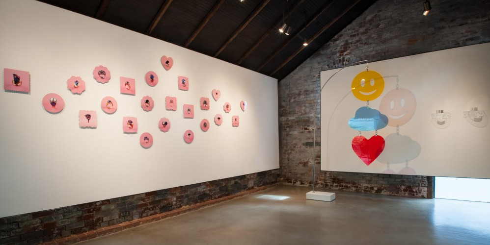 installation shot of happiness project show at whitespace gallery