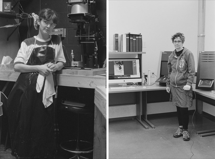 Nancy Floyd, Evolution of the Darkroom 1983-2016, archival inkjet print on Epson Exhibition Fiber, 10 by 13.5 inches.