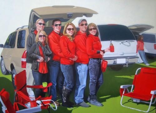Meg Aubrey, Red, 2013, oil on canvas.