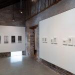 Artwork installation inside exhibition gallery